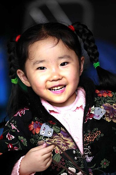 Young girl in China