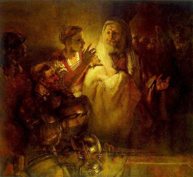 Rembrandt, Peter Denying Christ