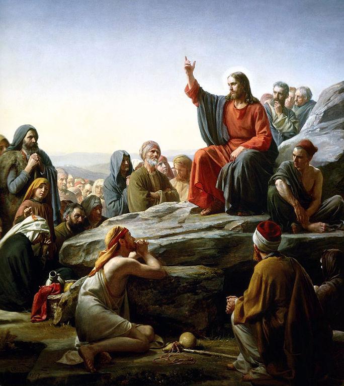 The Sermon on the Mount, by Danish painter Karl Heinrich Bloch