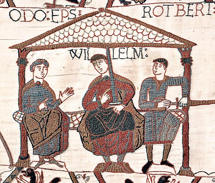 Paramhansa Yogananda spoke freely of his former lives, including the fact that he had been William the Conqueror — shown here in a panel from the Bayeux Tapestry. R-L: Bishop Odo of Bayeux, Duke William, and Count Robert of Mortain.