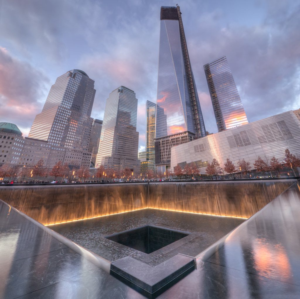 The 9/11 Memorial. Creative Commons, photo by DMZ111.