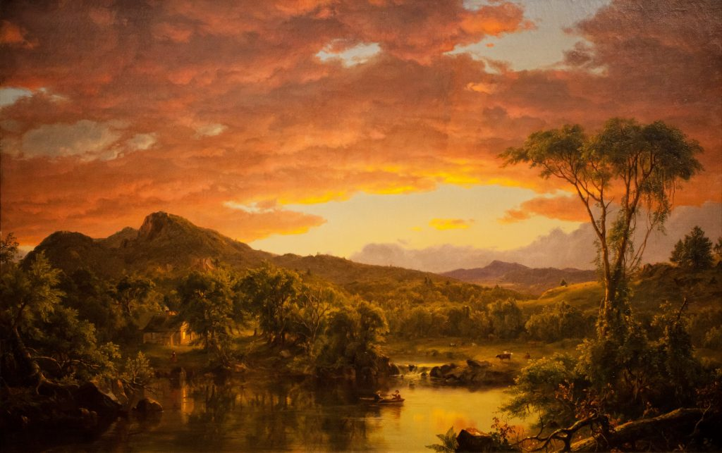 Frederic Edwin Church. A Country Home. 1854. Source: Wikimedia; Creative Commons License