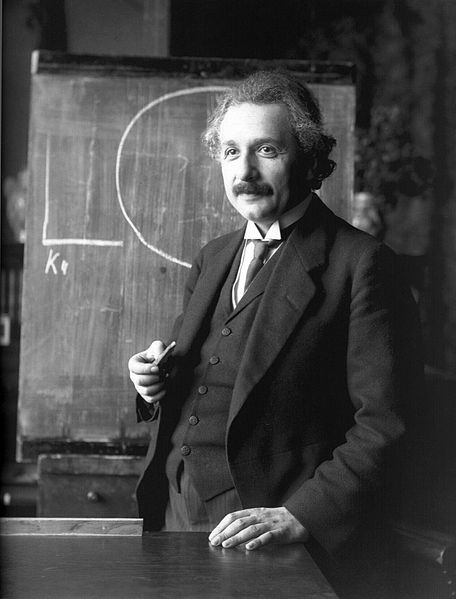 Einstein threw a huge hurdle in the path of dogmatism, when he discovered that matter is composed of energy, and that time and space are relative. Source: Wikimedia Commons