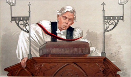 "Rigid ideas about how ""spiritual"" looks are fading. (Caricature of Canon Alfred Ainger, Vanity Fair, February 13, 1892.)"
