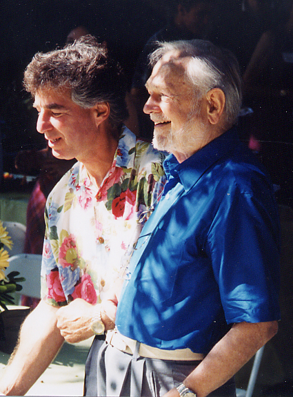 Swami Kriyananda with David Praver — always calm and cheerful amidst life&rsquo's unavoidable storms.