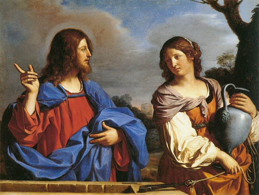 Guercino: Jesus and the woman of Samaria at the well. (Creative Commons License.)