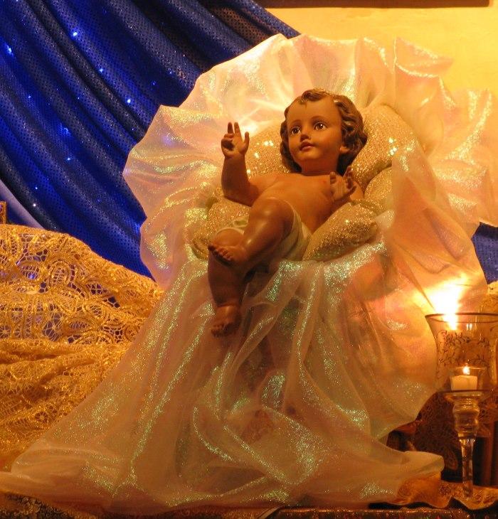 Christ child on altar, Palo Alto Ananda Mandir.