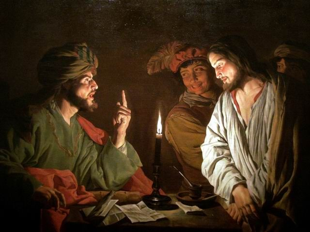 Jesus before the high priest Caiaphas. Mattias Stom