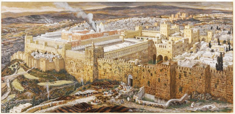 Reconstruction of Jerusalem and the Temple of Herod, by James Tissot, Brooklyn Museum (Wikimedia Commons)