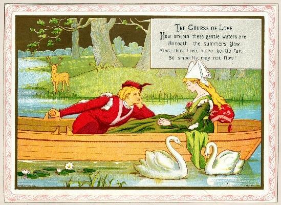 lovers in boat