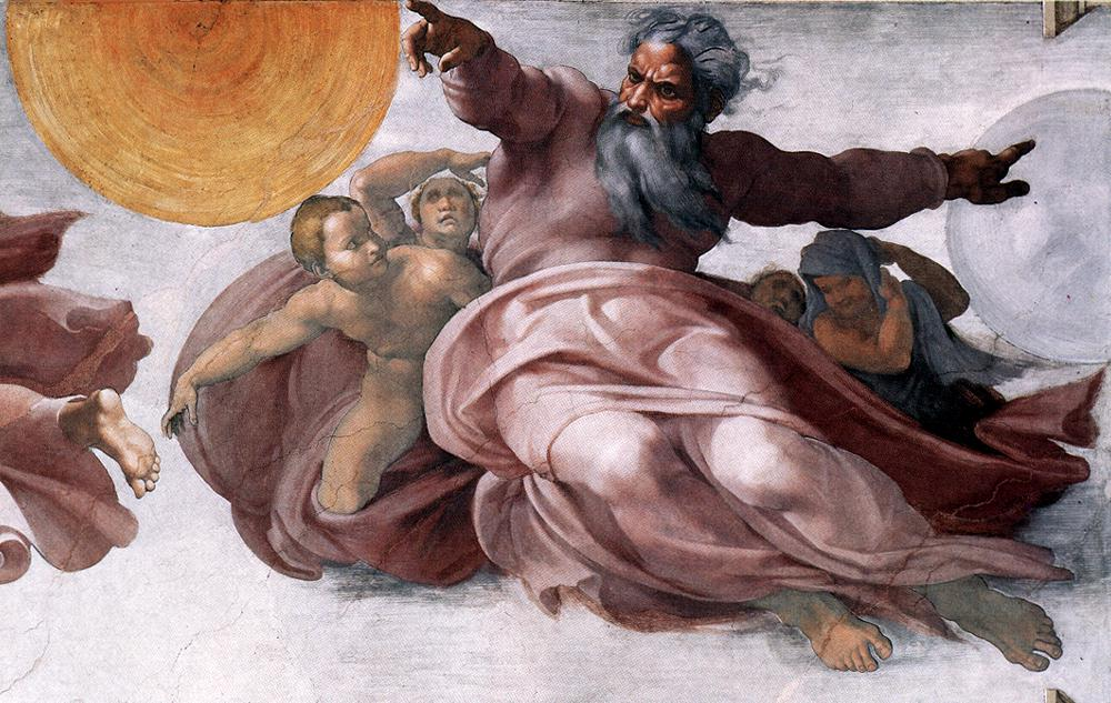 Michelangelo, Creation of the Sun and Moon