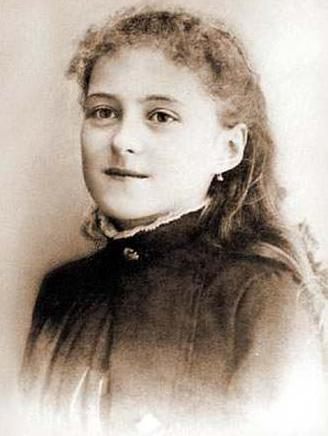 Therese at age thirteen.
