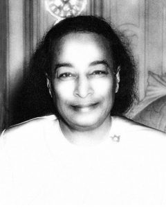 Paramhansa Yogananda, an Anandavatar — an avatar who has attained the ultimate happiness. Click to enlarge.