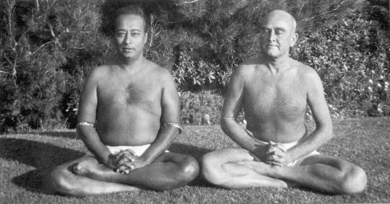 A great world teacher and his chief disciple: Paramhansa Yogananda with Rajarsi Janakananda.