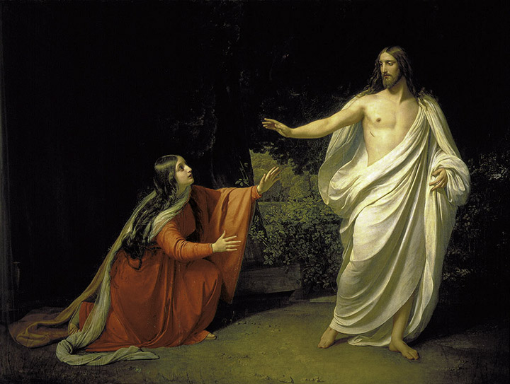 Mary sees the risen Christ. <em>Alexander Andreeyevitch Ivanov.