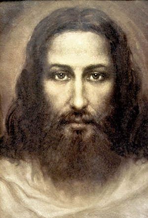 Christ drawn from the Holy Shroud of Turin