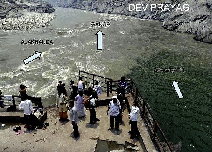 Devprayag, where the Alaknath and Bhagirath Rivers become the Ganges.