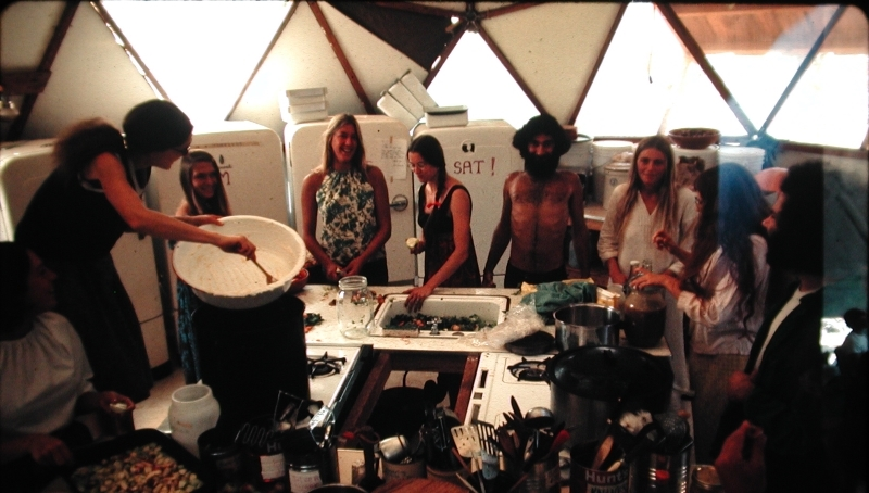 Ananda Meditation Retreat kitchen circa 1971