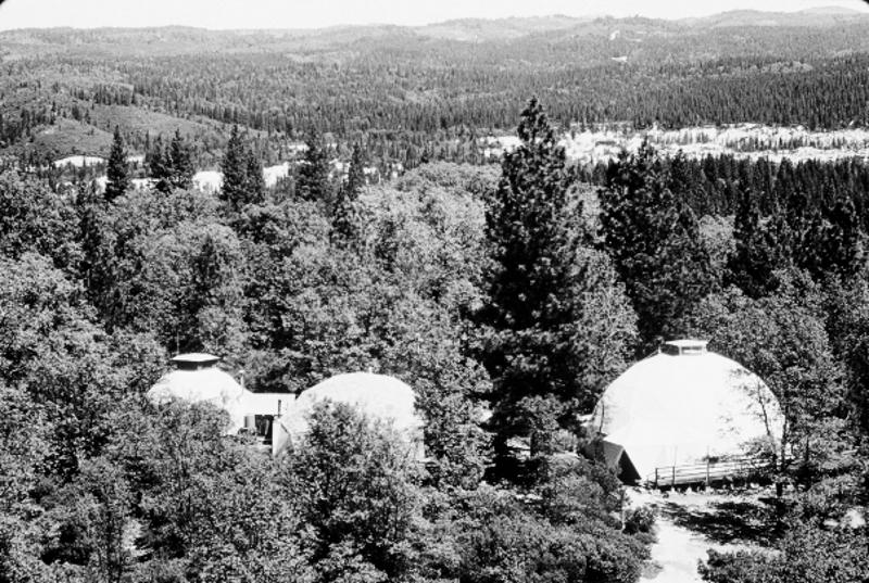 Ananda retreat domes, 1976