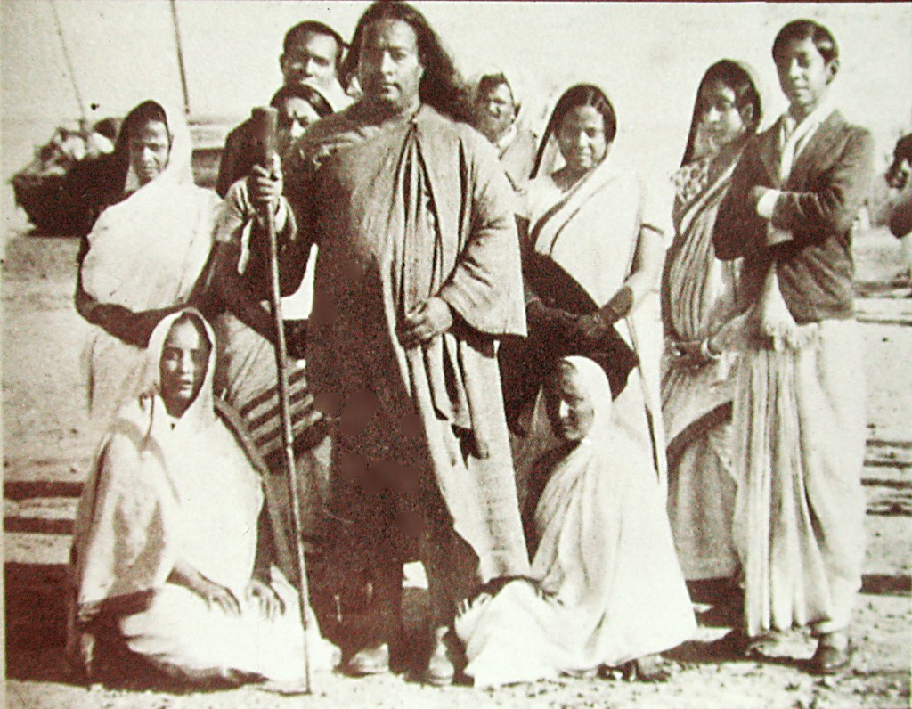 "Yogananda in India, 1935. ""If you knew my consciousness!"" he told Swami Kriyananda. It embraced galaxies and the tiniest grain of sand. Click to enlarge."