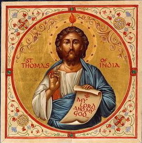 St. Thomas. He died a martyr after an angry prince ordered his death due to his converting two of his wives.