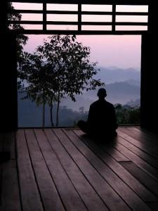 zen monk meditation