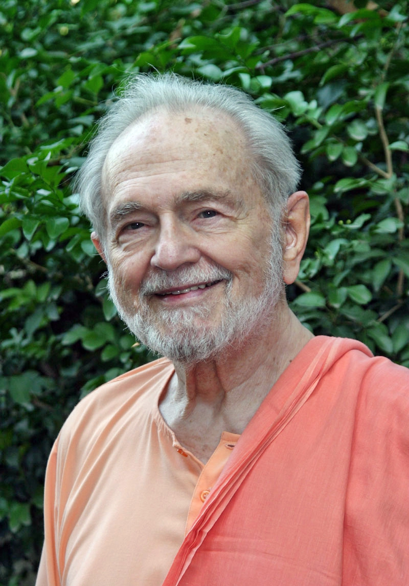 Swami Kriyananda in India in his later years — always fully aware, always a disciple.